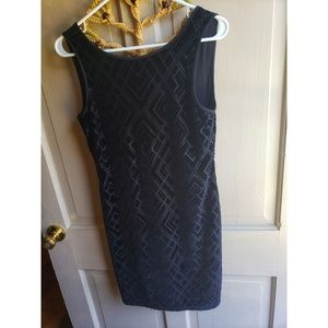 White House Black Market Velvet Black Dress